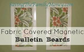Magnetic Bulletin Board Homemade Magnetic Fabric Bulletin Board This Was So Easy