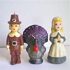 pilgrim candles thanksgiving thanksgiving pilgrims turkey vintage candles kitsch retro
