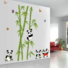 amazon com voberry home decor mural vinyl wall sticker removable amazon com voberry home decor mural vinyl wall sticker removable cute panda bamboo nursery room wall art decal for kids room home improvement