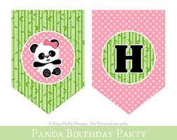 printable happy birthday banner panda party