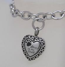 Engravable Charms Paw Cremation Jewelry Cremation Urn Bracelet Engravable Charm Urn