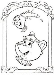 potts beauty beast color disney coloring pages