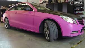 matte pink car full wrap mercedes e class in matte pink youtube