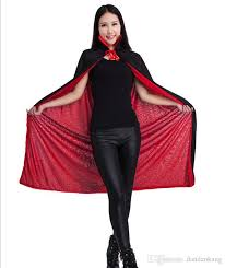 Halloween Costume Cape 140cm Halloween Women Witch Cape Cloak Kids Black God Death