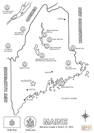 maine map coloring page free printable coloring pages