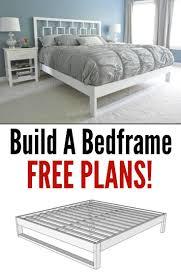 Simple Bed Frame by Best 20 Bed Frame Plans Ideas On Pinterest Platform Bed Plans