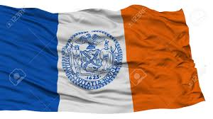 Flag Of New York City Isolated New York City Flag City Of New York State Waving On