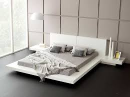 Platform Bed Uk Modern Bedroom Furniture Emer White Platform Bed Living It Up