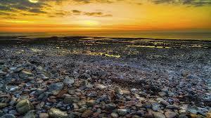 beach fantastic sea colors stone sunset beach stones wonderful