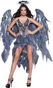 Wow Halloween Costumes White Sheath Angel Costume Wings Cute