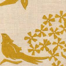 Upholstery Fabric With Birds Upholstery Fabric Patterned Linen Birds Silhouette