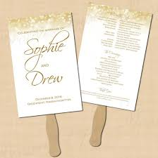 jar wedding programs jars jar wedding program fans fan template white gold sparkles