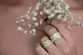 wide wedding bands floral gold wedding ring wide flower pattern wedding ring 14k
