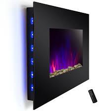 wall mount electric fireplace heater binhminh decoration