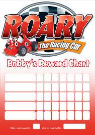 personalised roary racing car reward chart adding photo option