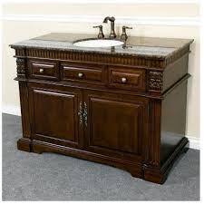 Walnut Vanity Bellaterra Home 50 Inch Single Sink Bathroom Vanity Dark Walnut