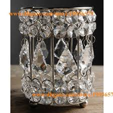 Crystal Candle Sconces H5 X W4 New Shiny Crystal Votive Tealight Candle Holders Table