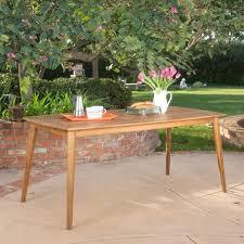 Acacia Wood Outdoor Furniture by Kamala Teak Finish Acacia Wood Rectangular Dining Table U2013 Noble