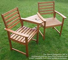 Garden Bench Hardwood Hardwood Garden Bench Companion Set Love Seat Great Outdoor