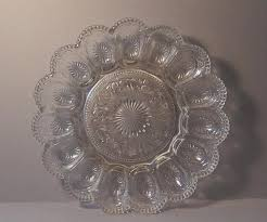 glass deviled egg platter brockway glass american concord deviled egg plate colemans