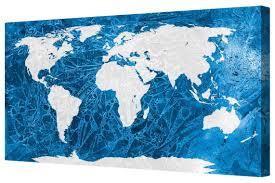 Large World Map Canvas by Art Prints Art
