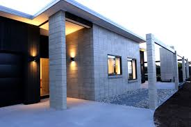 Cinder Block House Plans Afforable Simple Design Contrete Block Homes That Has White Wall