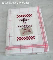 cahier de cuisine echange de noël 1 un cahier de recettes le marquoir d elise