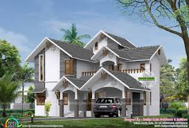 sloped roof 2900 square feet 4 bedroom home kerala home design