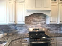 brick tile backsplash kitchen love brick in the kitchen easy