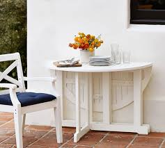 Hampstead Painted Round DropLeaf Dining Table White Pottery Barn - Round drop leaf kitchen table
