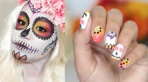 sugar skull nail art tutorial nailsby ana youtube