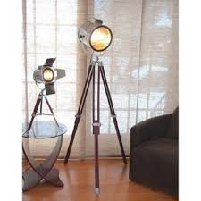 themed floor ls grammy industrial modern tripod floor l in black and gold