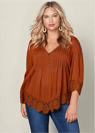 plus size blouses and tops plus size tops s blouses shirts tunics venus