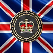 Beitish Flag St Edward U0027s Crown British Royal Crown Over U K Flag Digital Art