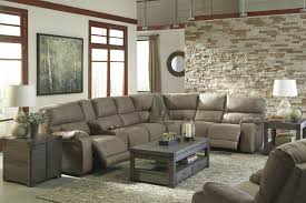 Power Recliner Loveseat With Console Bohannon Taupe Left Facing Sectional W Right Facing Power