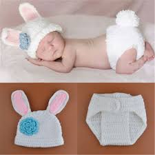 infant photo props baby infant girl boy rabbit bunny knitted and caps baby