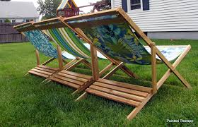 wood i used for these is cedar coated with thompson s water sealer you can find the plans for the sized version of the beach sling chair here