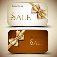 gold sale ribbon card vector business pixempire