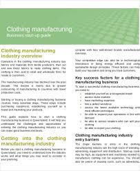 manufacturing business plan templates 13 free word pdf format