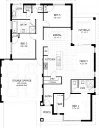 3 bedroom house plans one fascinating 100 3 bedroom house plans one single floor home