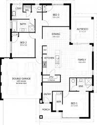 fascinating 100 3 bedroom house plans one single floor home