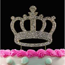 buy gold crown bling crystal princess birthday baby shower cake