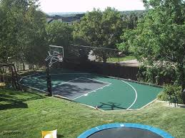 Basketball Court In The Backyard Residential Gallery Snapsports Of Utah Blog