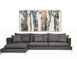 extra large long wall art white trees modern home interior decor