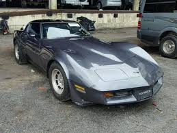 corvette auctions salvage chevrolet corvette for sale at copart auto auction