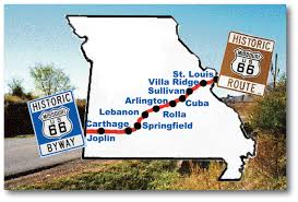 Route 66 Map by Route 66 Association Of Missouri Join The Route 66 Association