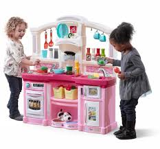 Pretend Kitchen Furniture by Just Like Home Fun With Friends Kitchen Pink Toys