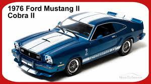 Blue Mustang Black Stripes 1976 Ford Mustang Ii Cobra Ii Blue W White Stripes Greenlight