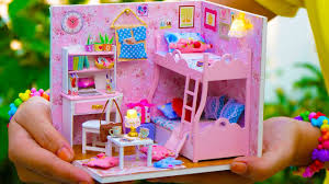 Doll House Bunk Bed Diy Miniature Doll House Bunk Bed Bedroom Princess Style