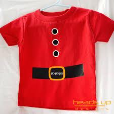 christmas santa shirt embellishment sew on fabric diy child